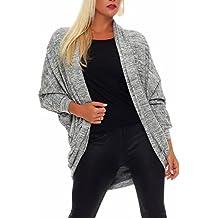 c86b4ad6a53184 Malito Damen Strickjacke lang | Cardigan im eleganten Design | Angesagter  Oversize Look - Weste -