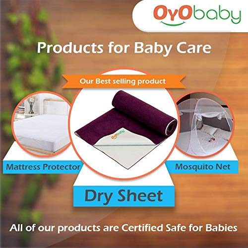 OYO Baby Waterproof Mattress Protector Sheet for Toddler, Kids and Adults, X-Large, Sea Green (200 cm x 140 cm)