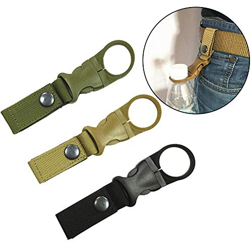 SDGDFXCHN Portable Silicone Water Bottle Buckle Convenient Clip Holder D-Ring Hook Camping Hiking Traveling