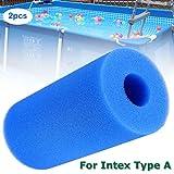 Samyth Sponge Filter 2PCS Sponge Filter Herbruikbare Foam Cartridge Wasbaar Filter voor Intex Type A