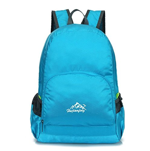 Uomini spalla esterna dello zaino di alpinismo borsa e donne di grande capienza Leisure Travel pieghevole , pink days blue