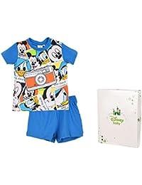 Pijama corto con recinto regalo bebé niño Mickey de 12a 30meses
