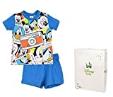 Pijama corto con recinto regalo bebé niño Mickey de 12a 30meses azul azul Talla:18 meses