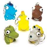 Baker Ross Dinosaur Eye Popper Keyrings (Pack of 6) For Kids Christmas Stocking Fillers and Gifts Ideas