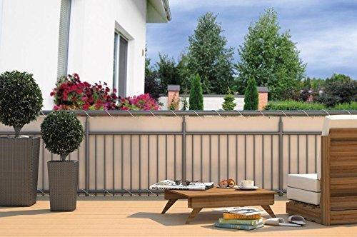 Galleria fotografica Recinzione Balcone Protezione Dal Vento Rivestimento Balcone Protezione Di Balcone Carenatura Visiera - Crema