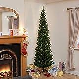 A2Z home solutions Künstlicher Bleistift, realistisch, mit natürlichen Ästen, schmal, 1,8 m, Weihnachtsbaum