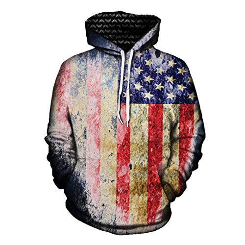 ae46bdca B-Pertand Amerikanische Flagge 3D All Over Printed Hoodies Sweatshirt  Hipster Lässige Coole Top Kind