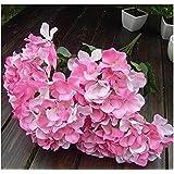 Annko 7 - Ramo de hortensias artificiales para decoración de boda, color rosa