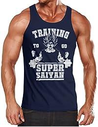beafd53e5190 MoonWorks Herren Tanktop, Son Goku Super Saiyajin Saiyan, Training Gym  Fitness Muskelshirt