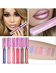 Petansy Matte Metallic Lip Gloss Liquid Diamond Glitter Lippenstift Langlebig Schimmer Sexy Lippen Make-up