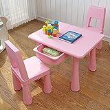 ZH Petite Table carrée et Chaise pour Enfants, avec Rangement pour tiroir, Ensemble...