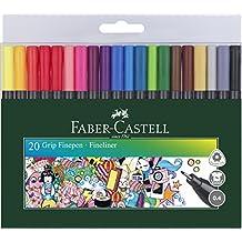 Faber-Castell 151620 Finepen Grip, 0,4 mm, 20er Etui