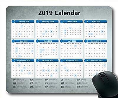 Yanteng Cojín de ratón del Calendario 2020 181222-001 por Yanteng