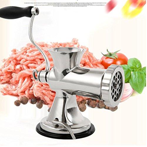 8 s Edelstahl hand Fleischwolf home Hand gehackt Fleischfüllung Maschine kochen Wurst Maschine Bewässerung Maschine