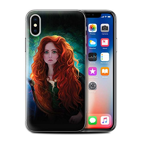 Offiziell Elena Dudina Hülle / Case für Apple iPhone X/10 / Pack 5pcs Muster / Märchen Charaktere Kollektion Prinzessin