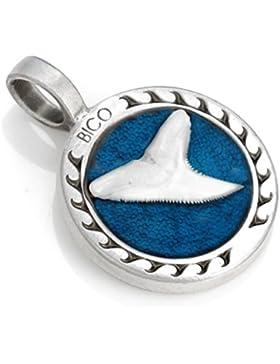 Bico Herren Shark'S Tooth Anhänger (B113) - Stärke und Ausdauer - Farbiges Kunstharz und Metall
