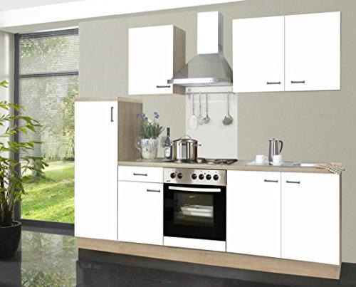 Miniküche Mit Kühlschrank Ohne Herd : Küchenzeile biggi cm komplett küche weiß mit kühlschrank herd