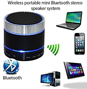 DEEP GLOBAL Mini Bluetooth Wireless Speaker (S10)/Portable Audio Player Play FM Radio audio from TF card and Auxiliary input COMPATIBLE with Samsung W2016 - Multicolor