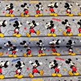 Swaffing Mickey Mouse Jersey Stoff–Mickey Maus Grau