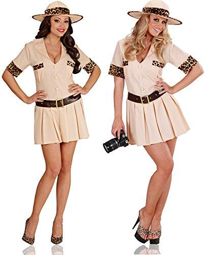 Seiler24 Cooles Safari Kostüm für Damen Größe 40-42 (Kleid Safari Style)