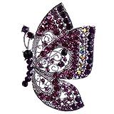 Vintage Schmetterling Form Brosche Nadel Anstecker Brooch Geschenk Schmuck - Lila
