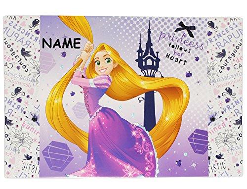 Schreibtischunterlage Rapunzel Disney Prinzessin - mit Name - 60 cm * 40 cm - PVC Unterlage / Knetunterlage / Schreibunterlage / Tischunterlage neu verföhnt ()