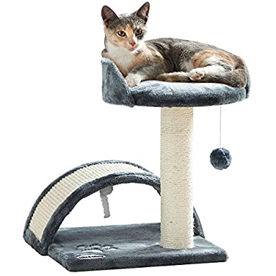 Milo & Misty Cat Bed and Scratching Post Activity Tree with Toys Milo & Misty Cat Bed and Scratching Post Activity Tree with Toys - Beige