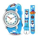Bling Jewelry Lehrer Zeit Quartz 3D Cartoon Sailor Bootsfahrer Armbanduhr Für Jugendlich Aus Blauem...