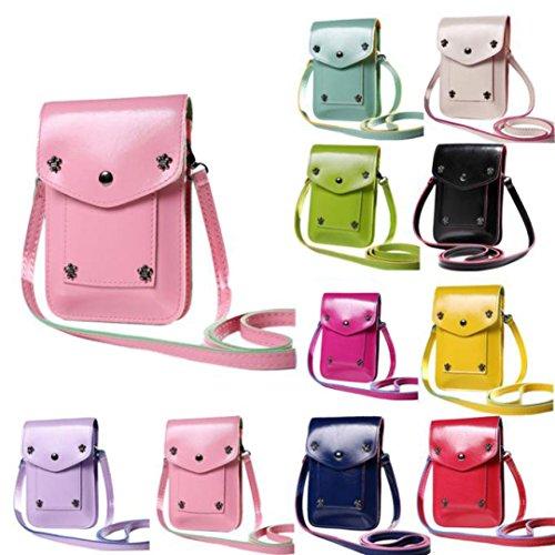 ESAILQ Sac à Bandoulière Femme Mini Charmant Sac de Messenger Multi-couleurs Optionnelles