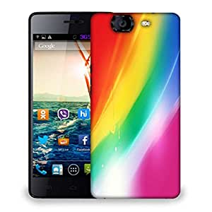 Snoogg Rainbow Color Designer Protective Phone Back Case Cover For Micromax Canvas Knight A350