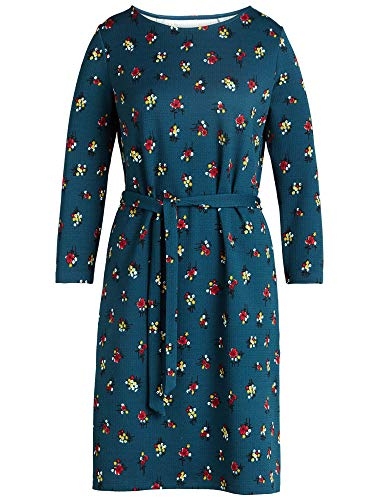 King Louie Kleid Zoe Dress Mayflower Orient Blue Blau M