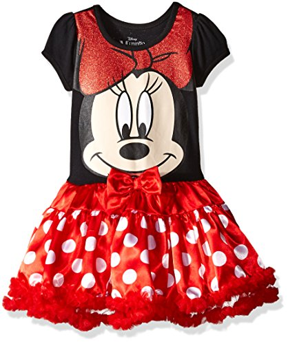 Disney Little Girls' Minnie Mouse Role Play Dress, Red, (Mouse Rot Polka Minnie Kleid Dot)