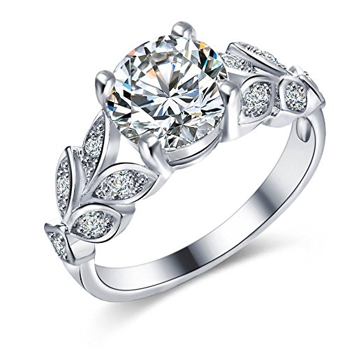 Crunchy Fashion Valentine Gifts Paradiso Silver Swiss Zircon Cz Ring For Women