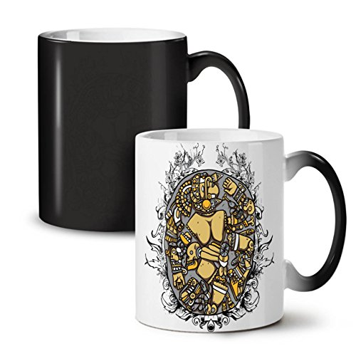 Mosaic Art Random Fashion Death Yard Black Colour Changing Tea Coffee Ceramic Mug 11 oz | Wellcoda