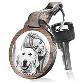 schenkYOU Schlüsselanhänger aus Holz Hundemutti mit rückseitiger Gravur