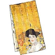 """VON LILIENFELD Bufanda de seda motivo del arte Gustav Klimt: """"Adele"""""""