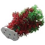 SODIAL(R) Artificial Fish Tank Water Tropical Plastic Aquarium Plants Ornament Green Decor 8