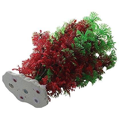SODIAL(R) Artificial Fish Tank Water Tropical Plastic Aquarium Plants Ornament Green Decor 3