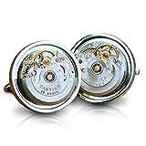 Gemelos con movimiento de automático de Cartier reloj Steampunk redondo de los hombres