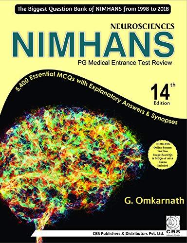 NEUROSCIENCES NIMHANS PG MEDICAL ENTRANCE TEST REVIEW 14ED (PB 2019)