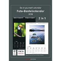 Foto-Bastelkalender 2018 - 2 in 1: schwarz und weiss - Bastelkalender: Do it yourself calendar A4 - datiert