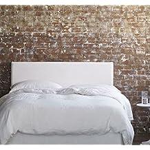 cabecero tapizado liso blanco disponible en colores