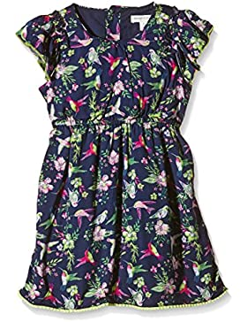 Pumpkin Patch Floral Bird Print Dress-Vestito  Bambina