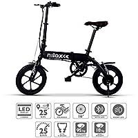 NILOX E Bike X2 Plus, Vélo Électrique Pliant Mixte Adulte, Noir