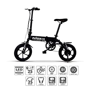 51ph9rqboQL. SS300 Nilox Doc X2 Plus, Bicicletta Elettrica Pieghevole, Motore 36v Unisex - Adulto, Nero, Taglia Unica