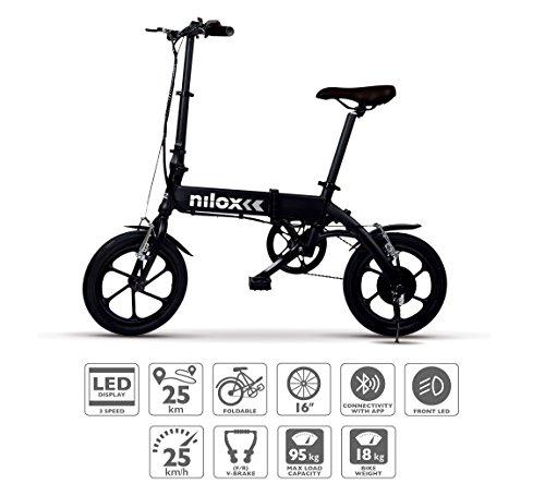 Nilox E-Bike X2 Plus, Elektrofahrrad, Schwarz, One size*