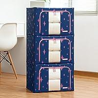 Aggiornamento Storage Box Oxford Cloth Storage Box Abbigliamento trapunta finitura box di grandi dimensioni 66 litri 3 Equipaggiata Storage Box ( colore : 2 )