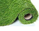 SUMC Kunstrasen Gras/Matte /Wolldecke/Künstlicher Rasen Freien gefälschtes Gras Rasenteppich Schauender im Freien Garten-Rasen für Hunde Haustiere 30mm Stapelhöhe (1m * 4m)