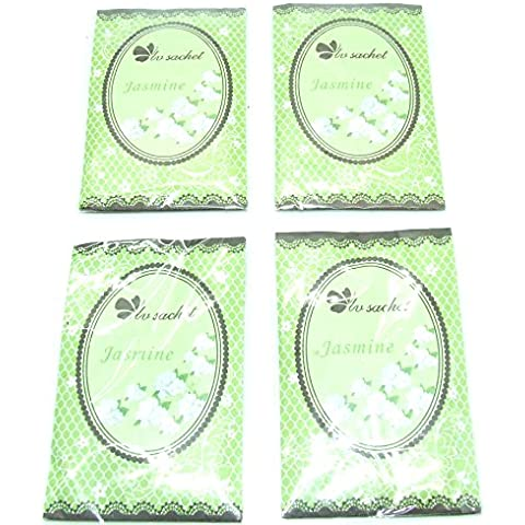 Pequeño con fragancia de jazmín bolsitas perfumadas–4unidades sobres–hogar fragancia–Popurrí aromático (