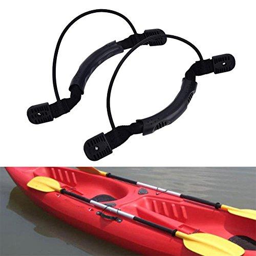 Lembeauty - 2 Asas de Soporte Lateral para Canoa o Barco con Asas para Pastillas de Kayak, Ganchos y Tornillos